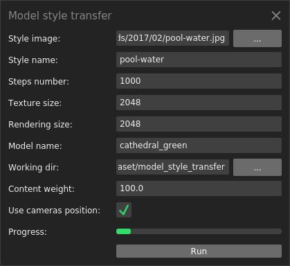 Model style transfer